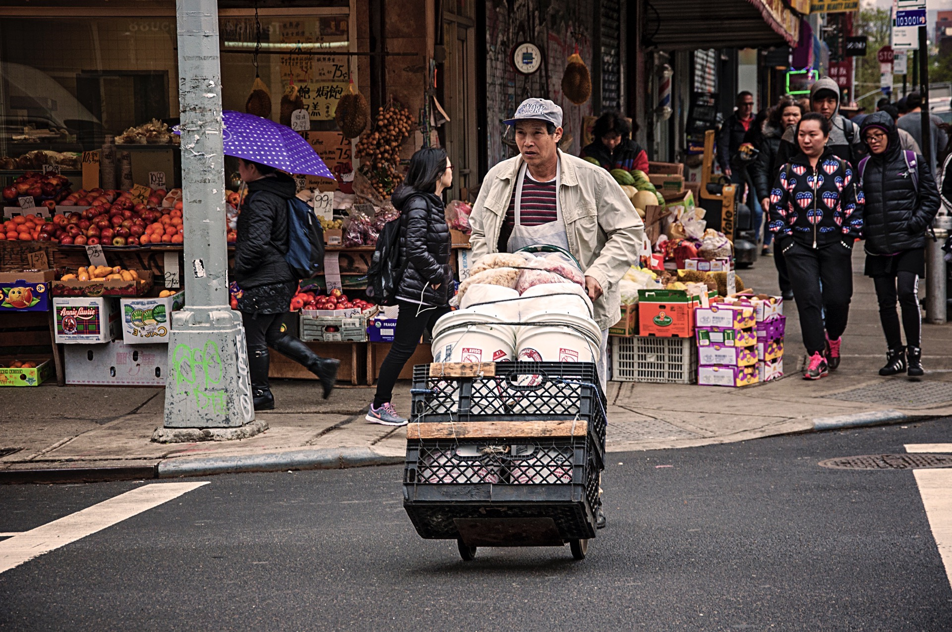 Working in Chinatown by Pablo Peña